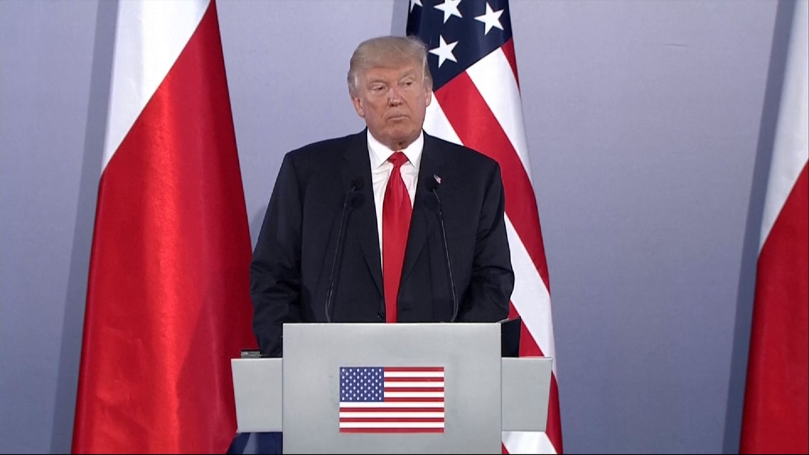 Trump's explosive press conference attacking his enemies in Pyongyang, Moscow and the press.