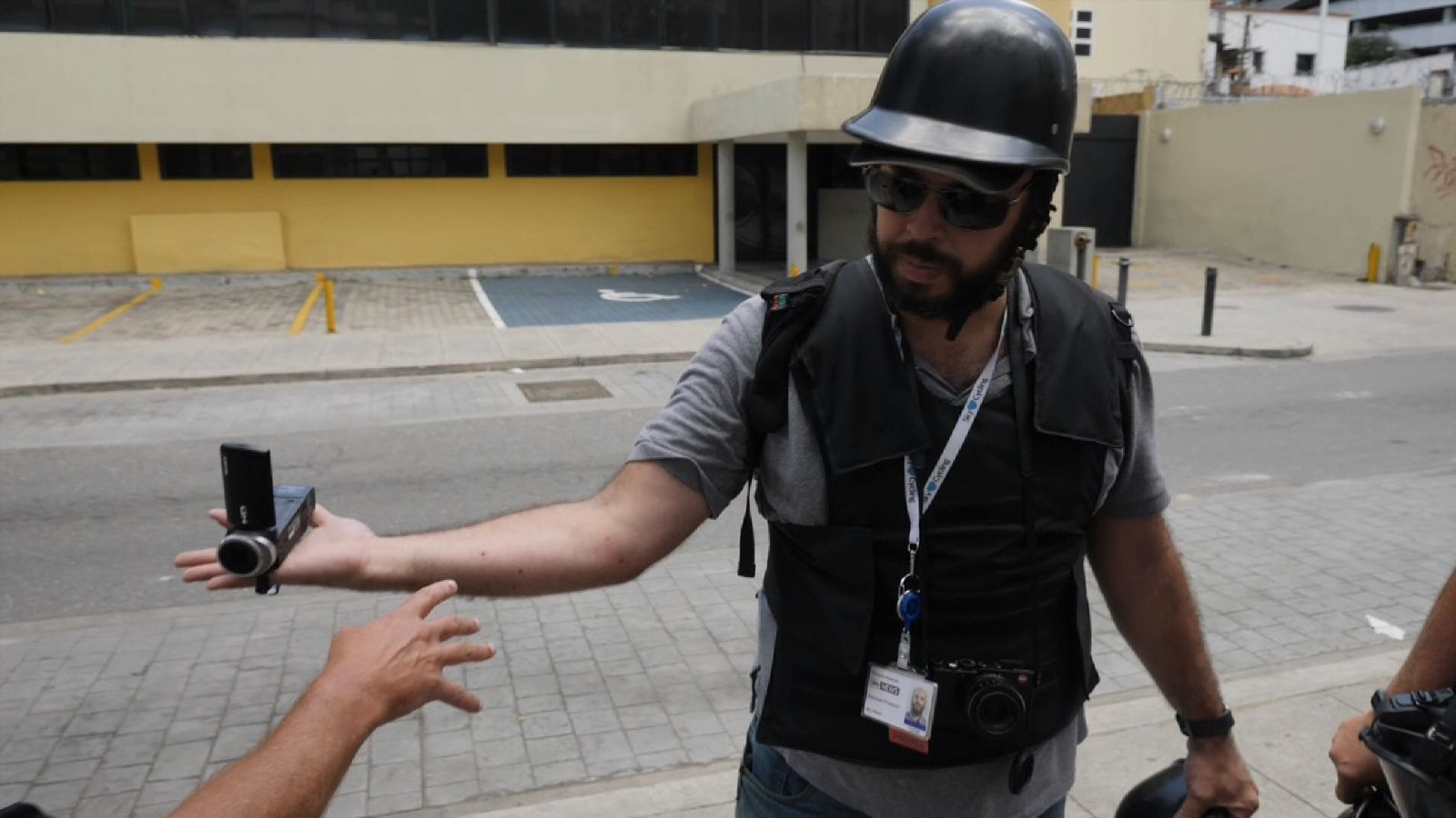 Sky News' Venezuelan producer was shot and wounded by police