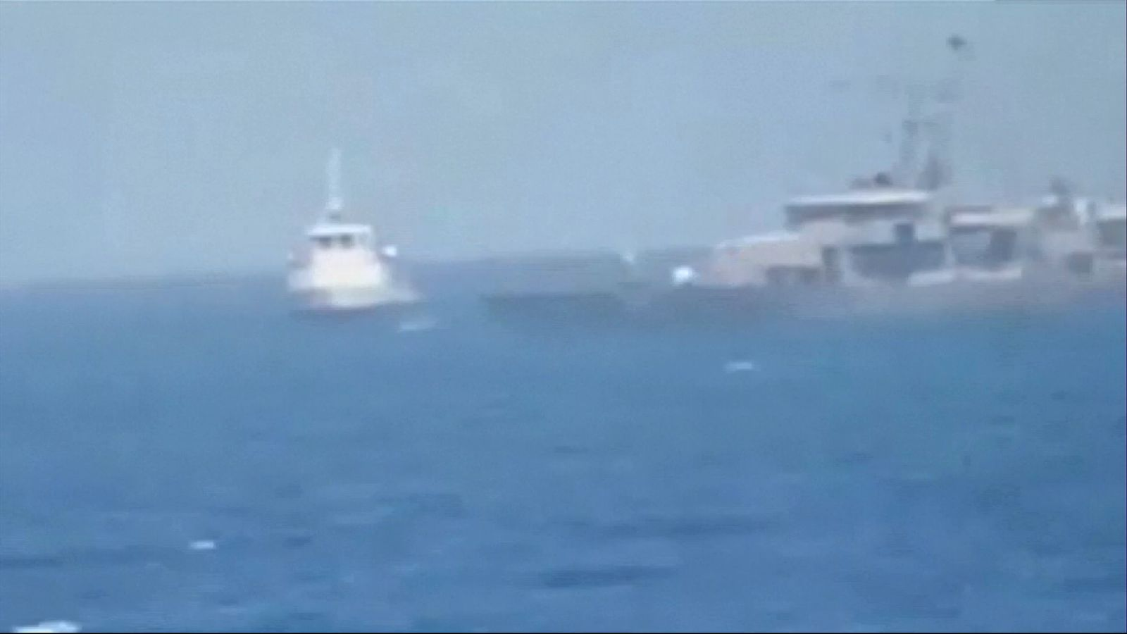 US and Iran push during sea with warning shots fired