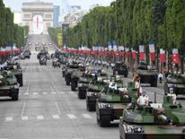 Tanks at the Bastille Day parade