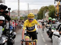 However, the Briton still had to make sure he crossed the finish line with his Team Sky teammates