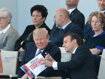 Donald Trump and Emmanuel Macron at the Bastille Day parade
