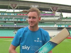 Stuart Broad at a Sky Ocean Rescue photocall