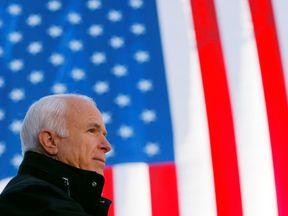 U.S. Republican presidential nominee Senator John McCain (R-AZ) speaks at a campaign rally in Defiance, Ohio October 30, 2008