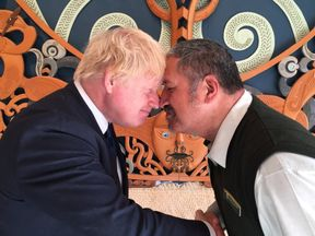 Boris Johnson in New Zealand