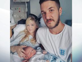 Connie Yates and Chris Gard with their son Charlie Gard