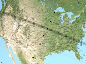 The eclipse is visible from 14 states. Pic: NASA