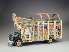 A painted truck presented to the Queen by the British High Commission Drivers during her State Visit to Pakistan