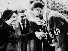 The Duke and Duchess of Windsor met Adolf Hitler in October 1937