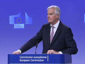 EU Brexit negotiator Michel Barnier said he heard no whistles, just a ticking clock