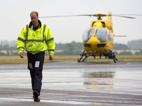 Prince William worked his final shift for East Anglian Air Ambulance this week