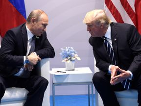 Donald Trump and Vladimir Putin meet at the G20 in July