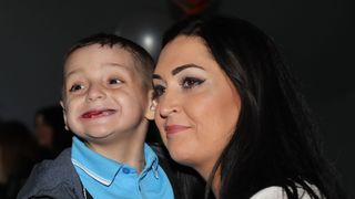 Bradley Lowery with his mother Gemma