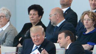 Donald Trump and Emmanuel Macron at the Bastille Day parade