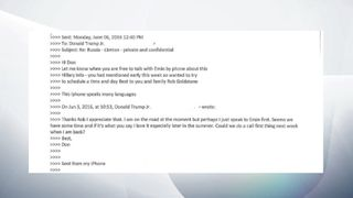 PART 2 - Trump Jr email exchange