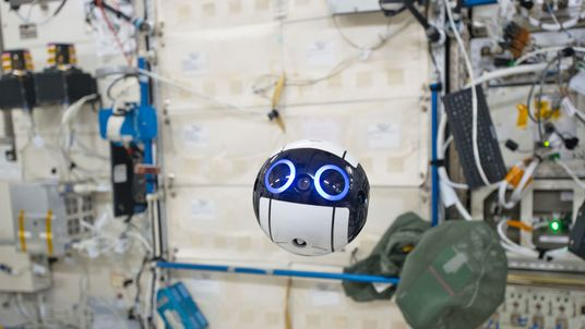 The Japan Aerospace Exploration Agency's JEM Internal Ball Camera, called Int-Ball, can record video in space while remote controlled from the ground. Credit: JAXA