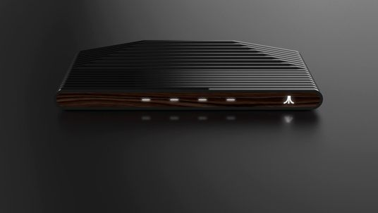 A clear nod to the past - the wood-effect Ataribox. Pic: Atari