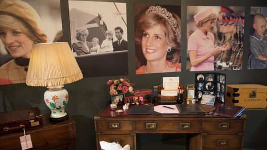 Items on the desk from the Kensington Palace sitting room of Diana