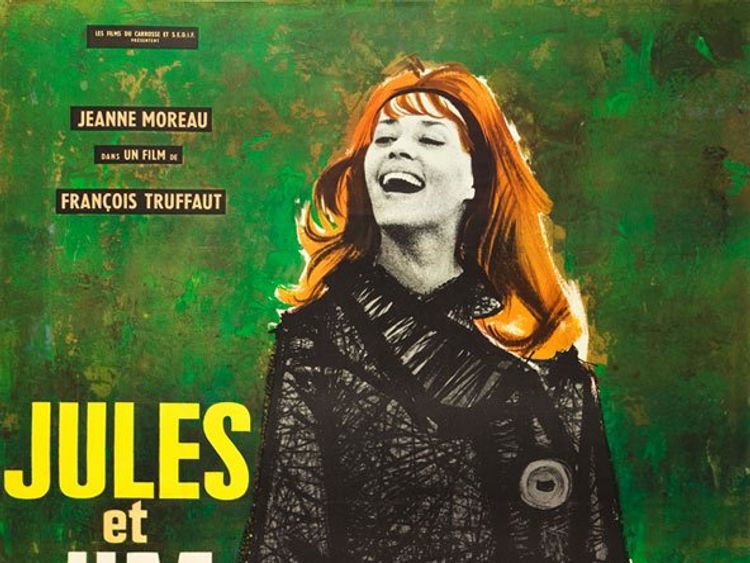 Moreau in the poster of 1962's Jules And Jim