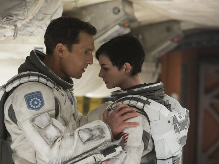 McConaughey and Hathaway in Interstellar