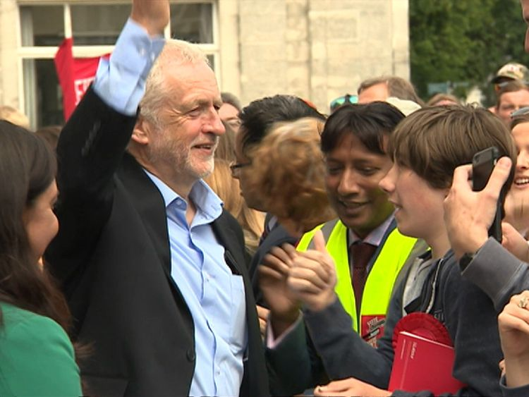 Jeremy Corbyn campaigning in Southampton Itchen