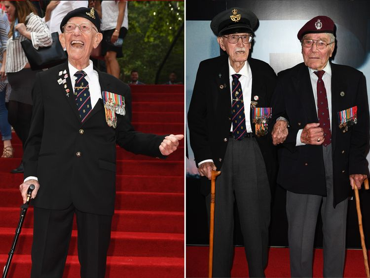 Veterans of Dunkirk attended the premiere
