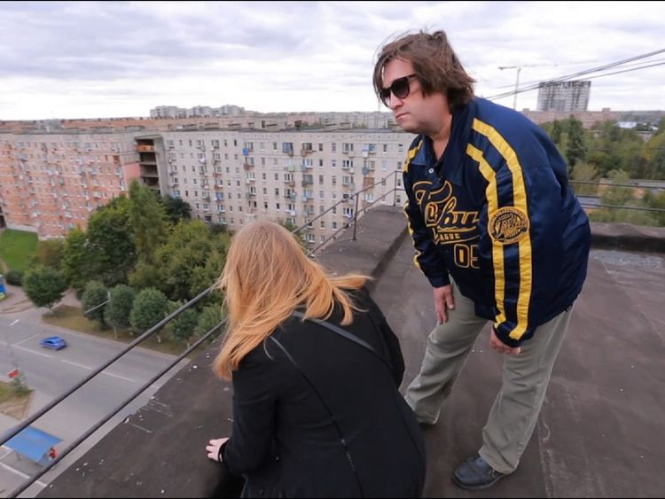 Diana Pestov's parents visiting the scene of her death, after she became a victim of the Blue Whale online death game