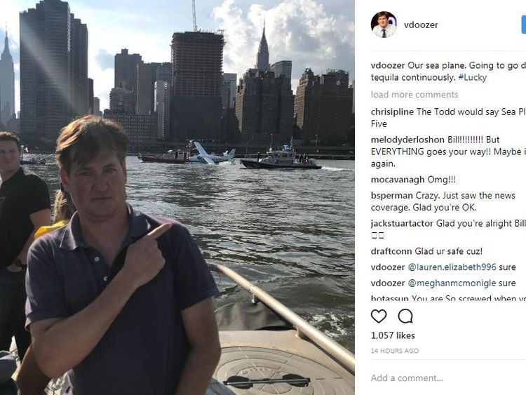 Bill Lawrence Instagram post after the landing