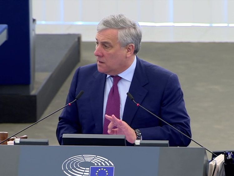 Antonio Tajani, President of the European Parliament