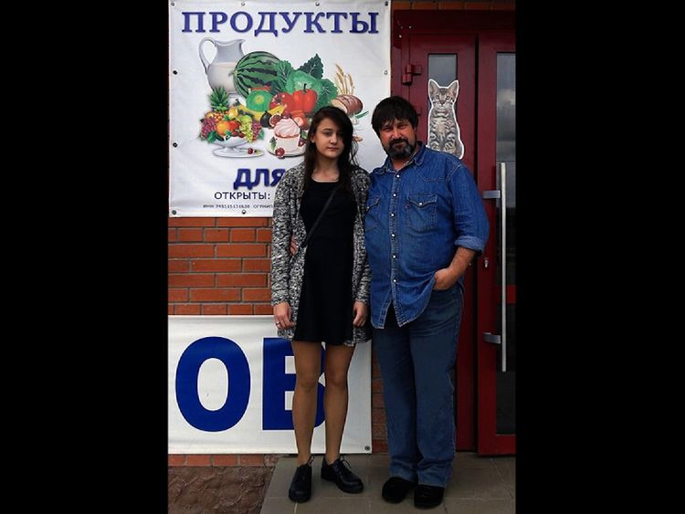 Diana Pestov with her father Sergey. Diana became a victim of the online death game Blue Whale