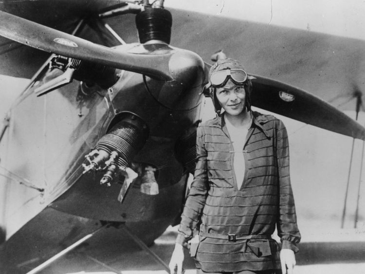 394033 03: (FILE PHOTO) Amelia Earhart stands June 14, 1928 in front of her bi-plane called 'Friendship' in Newfoundland. Carlene Mendieta, who is trying to recreate Earhart's 1928 record as the first woman to fly across the US and back again, left Rye, NY on September 5, 2001. Earhart (1898 - 1937) disappeared without trace over the Pacific Ocean in her attempt to fly around the world in 1937. (Photo by Getty Images)