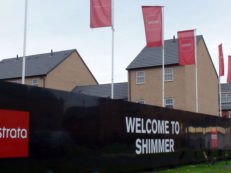 Houses on the new Shimmer estate in Mexborough, South Yorkshire, where residents will lose their homes if the Government's preferred route for the second phase of the high-speed rail project goes ahead.