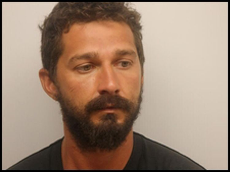 Actor Shia LeBeouf is pictured in Savannah, Georgia