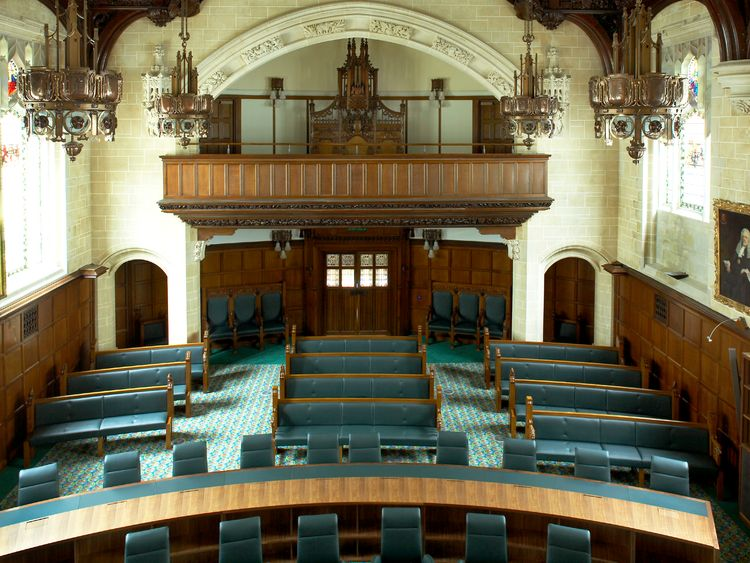 Image of inside the Supreme Court in the UK