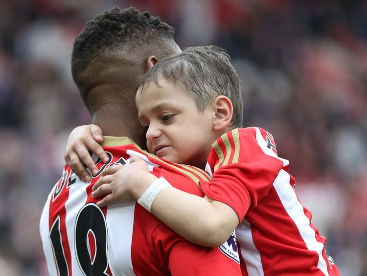 Jermaine Defoe bids an emotional goodbye to 'best friend' Bradley Lowery