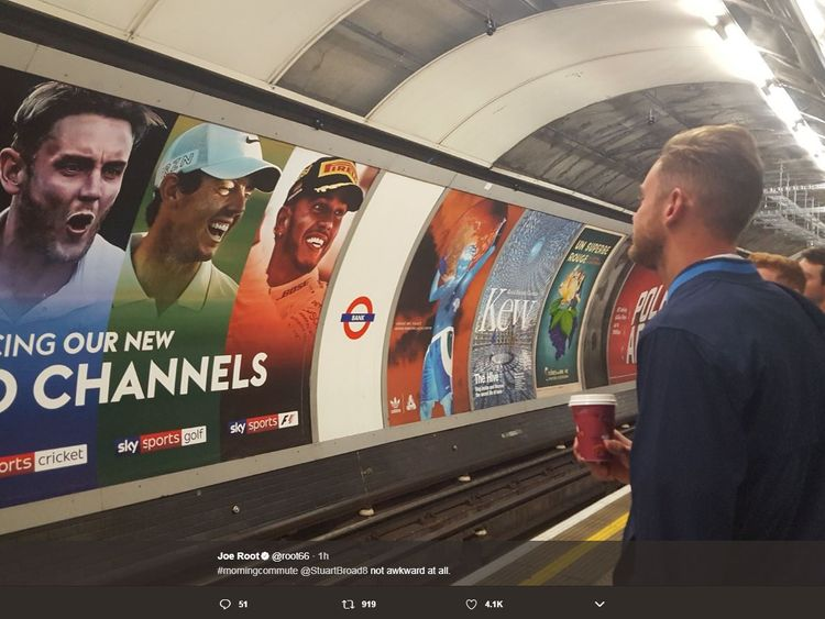 England cricket stars travel by Tube to South Africa Test match