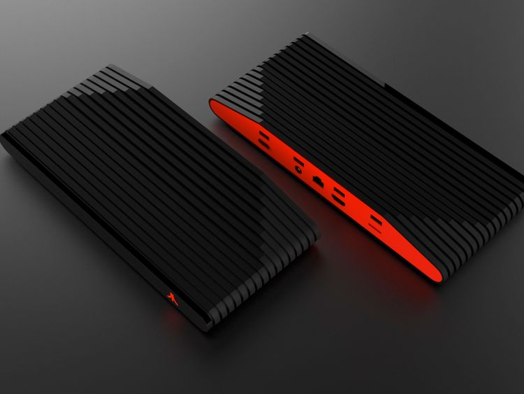 A more modern-looking version comes in black and red. Pic Atari