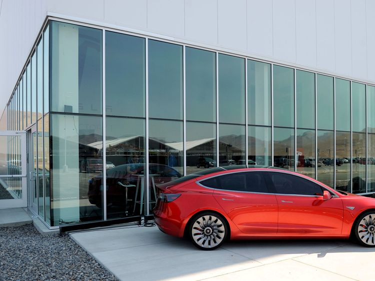 The Tesla Model 3 electric car is on sale in mid-July