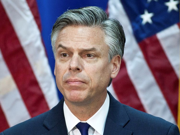 Jon Huntsman, former Utah governor and Republican presidential hopeful, is Trump's pick for ambassador to Russia. File pic