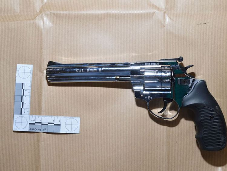 """Seventy-nine """"viable"""" weapons were recovered from the trailer of the vehicle"""