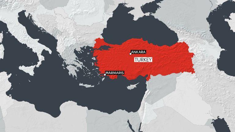 The quake's epicentre was off the Turkish coastal city of Marmaris
