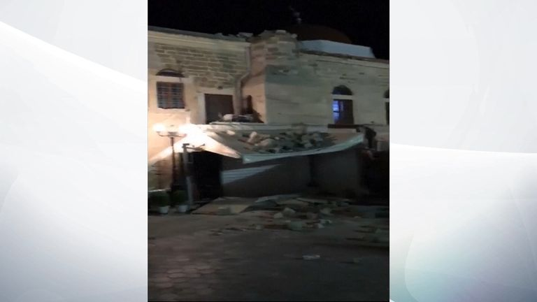 Some buildings on Kos were damaged in the quake