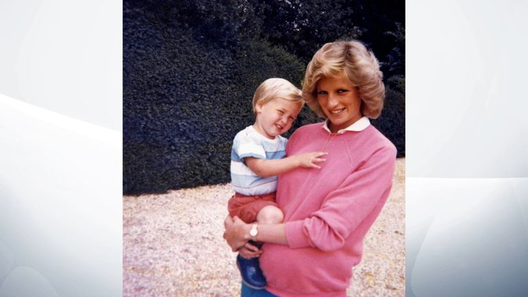 William points out that both brothers are in this photograph, as Diana is pregnant with Harry