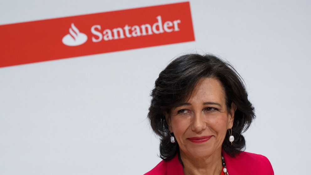Banco Santander Chairman Ana Patricia Botin looks on during a news conference at the Bank's Castellana building on June 7, 2017 in Madrid, Spain. Banco Santander