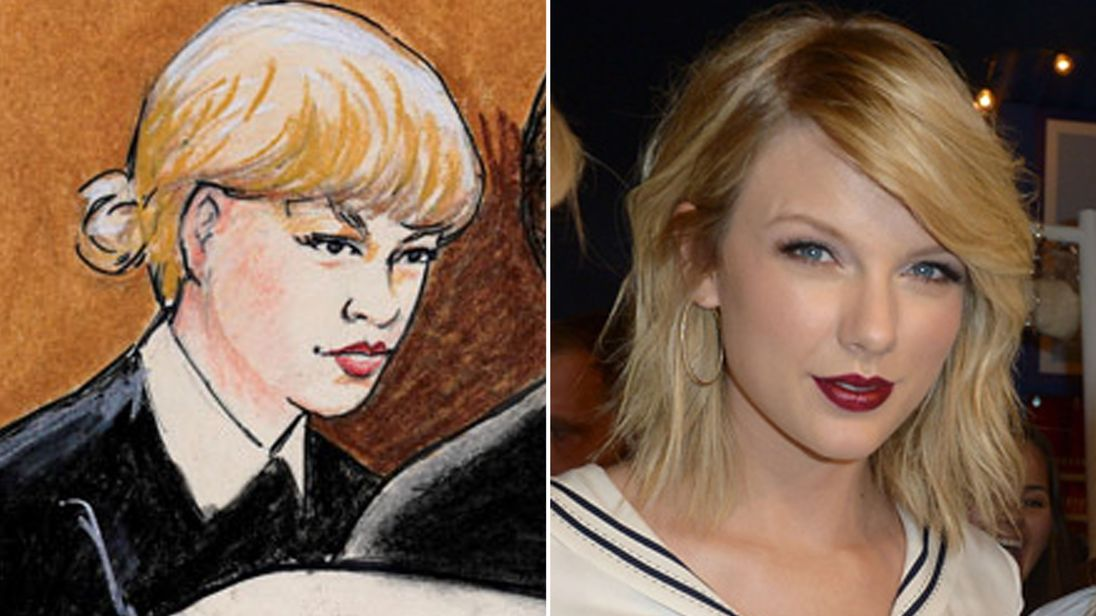 The court illustration of the pop star bore only a passing resemblance to the singer