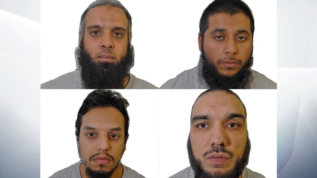 Clockwide from top left: Naweed Ali, Khobaib Hussain, Tahir Aziz, and Mohibur Rahman
