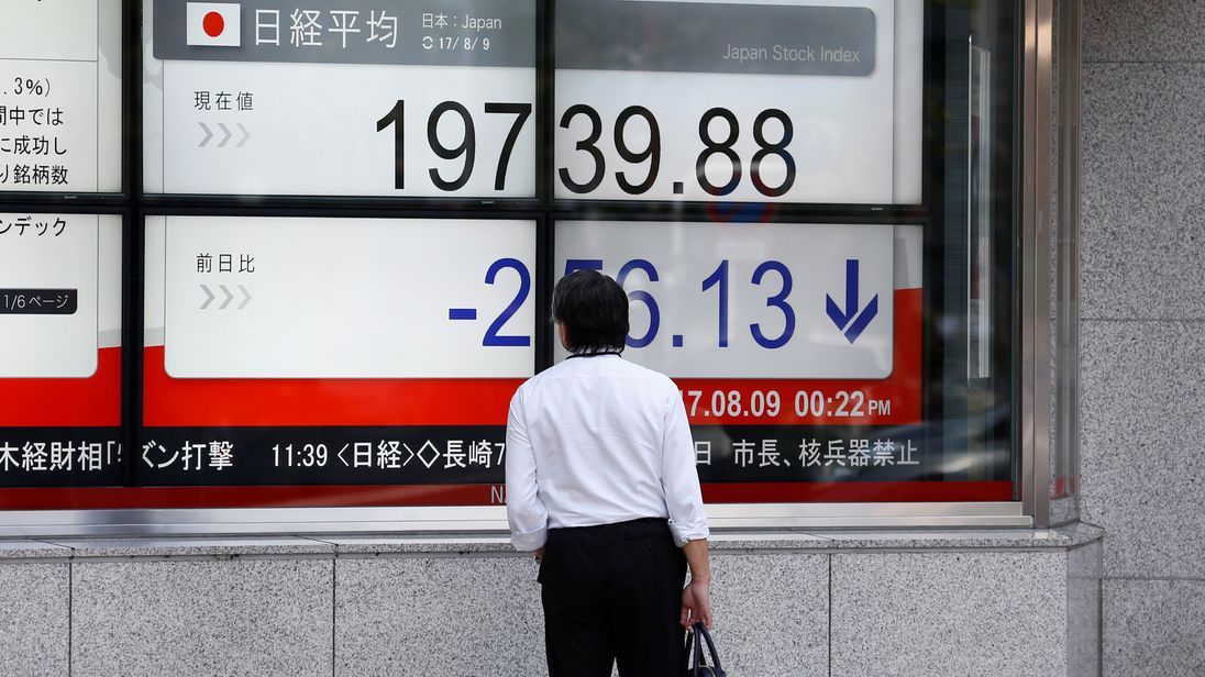 Asian markets lower amid US-North Korea tensions
