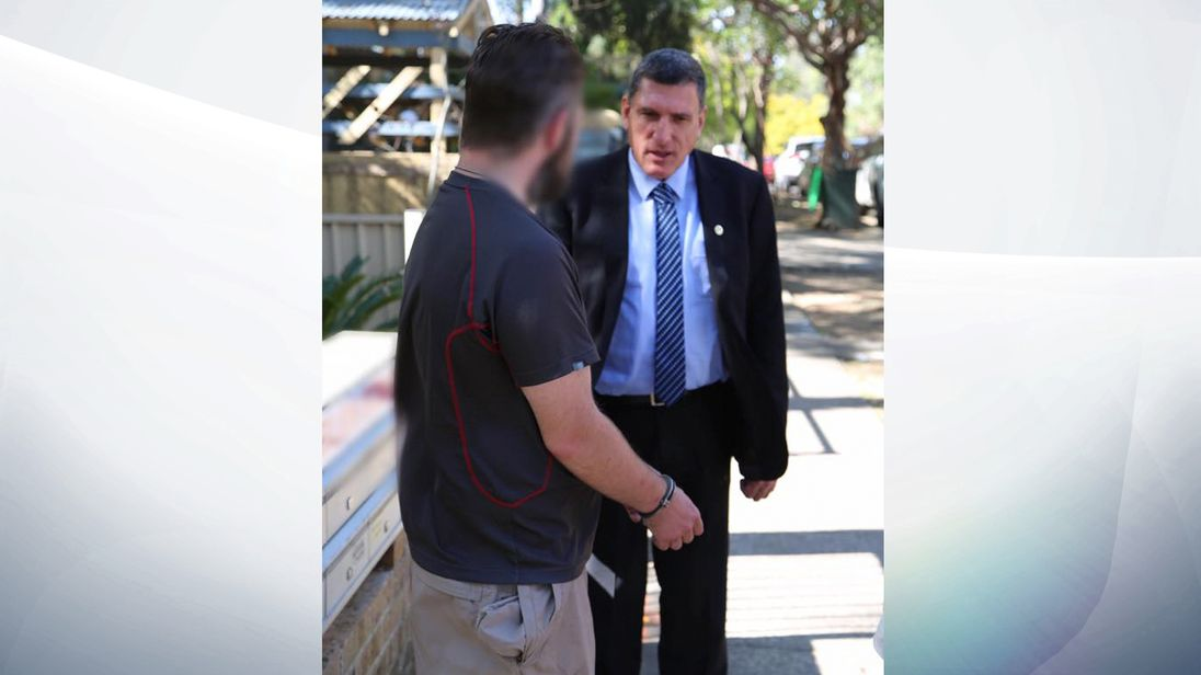 A picture of the British tourist held in Sydney on suspicion of grooming a youngster. Pic: NSW Police