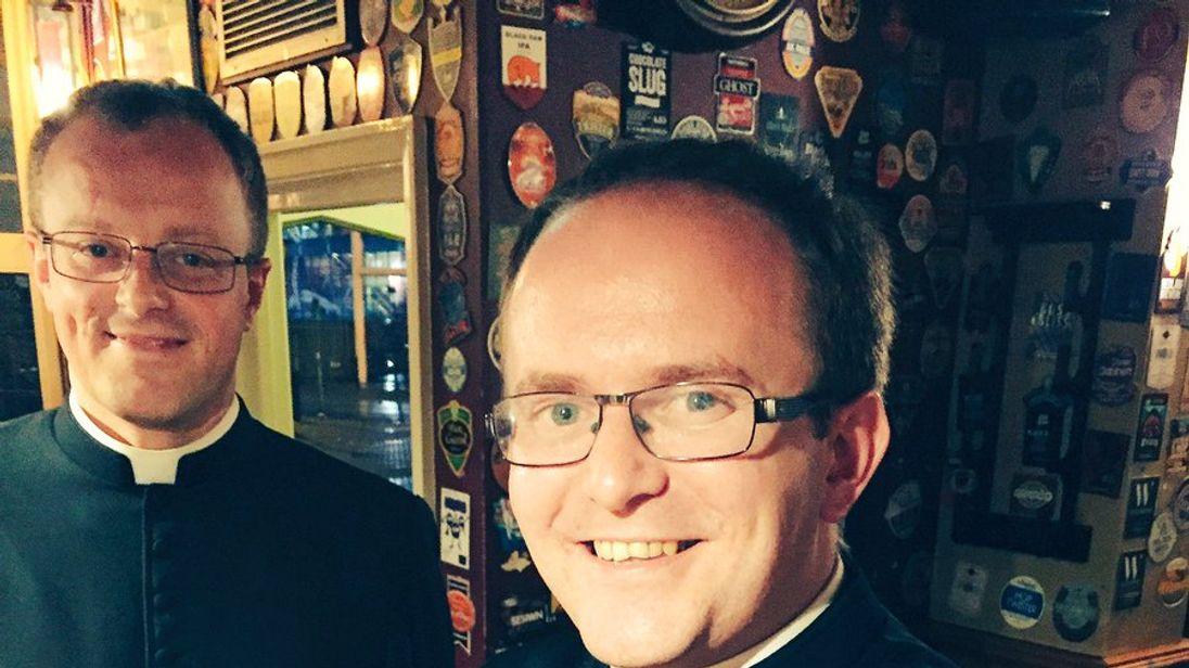 Reverend James enjoyed a pint that shared his name. Pic: Matt Morgan