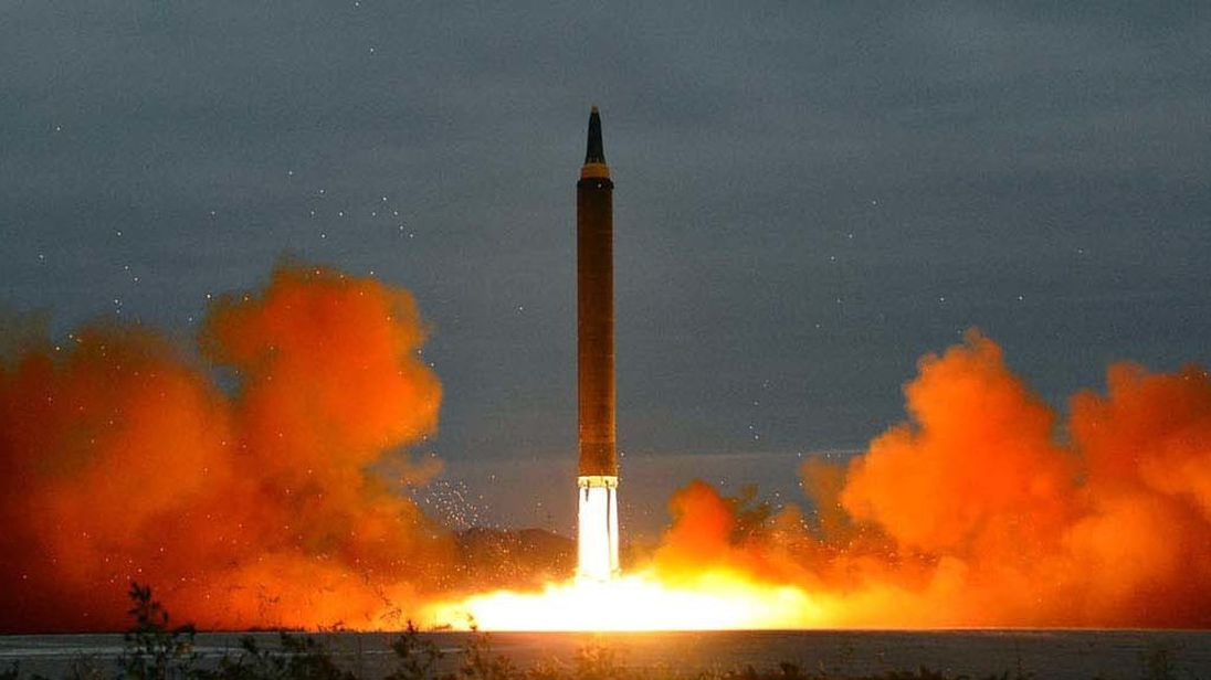 The latest missile test in North Korea Pic Korean Central News Agency